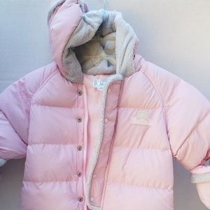 New Baby The Childrens Place Pink Snowsuit